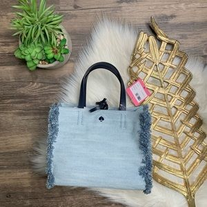 Kate Spade Sam Denim Handbag Purse